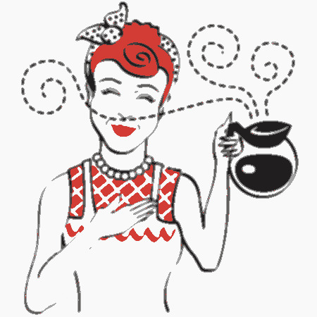 14916-Red-Haired-Waitress-Smelling-The-Wonderful-Aroma-Of-Fresh-Hot-Coffee-While-Holding-A-Coffee-Pot-Clipart-Illustration[1]